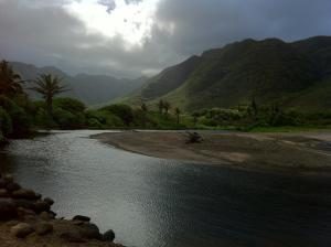 Looking in the opposite direction at Halawa Falls, Molokai.  I took the picture with my iphone.  Can you believe it?!