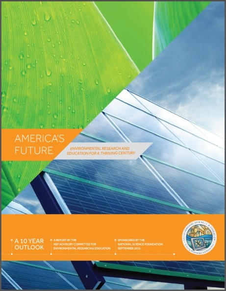 Image of cover page from the NSF AC ERE report, America's Future: Environmental Research and Education for a Thriving Century.